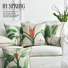 "Countryside Fresh Plants Sofa Decor Pillow Case Cushion Cover Square 17"" Linen"