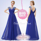 LOIS Cobalt Blue Full Length Prom Evening Cruise Bridesmaid Dress UK SALE!!!