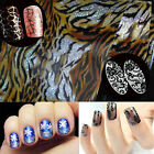 1 Bottle Roll Sexy Lace Black Leopard Transfer Printing Nail Art Foil Stickers