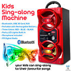 KIDS SING ALONG MACHINE - BLUETOOTH SPEAKER WITH MICROPHONE