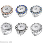 1PC Silver Tone Snap Rings Diy Button Fashion Jewelry Size 7 M12907