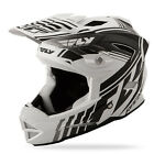 NEW FLY RACING DEFAULT BMX DOWNHILL MTB ADULT HELMET WHITE/BLACK ALL SIZES