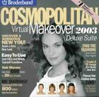 Cosmopolitan Virtual Makeover 2003 Deluxe Suite PC CD see hair styles on own pic