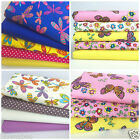 Butterfly themed fat quarter bundles 100 % cotton fabrics for sewing/ patchwork