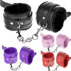 new Leather Slave Hand Ring Handcuff Ankle-cuffs Restraint Bondage Sex to toy