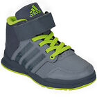 Children Boys adidas Jan Bs 2 Mid Trainers In Grey-Children Boys Trainers-Hi Top