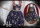 Lolita aristrocra​t Golden Ferris wheel wonderland Halter maid dress JI3016 BU