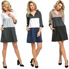 Glamour Empire. Women's Jersey Colour Block Shift Dress with Pockets S-2XL. 303