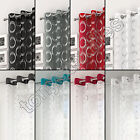 SILVER CIRCLES VOILE CURTAIN PANEL RING TOP EYELET NET BLACK WHITE GREY RED
