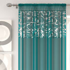 white teal curtains