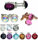 Vintage Retro Style Cabochon Colour Gift  Cufflinks made with Swarovski Elements