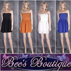 New Ladies Summer Bow Dress Size S M L Pretty Emma Kiss Black Blue Orange White