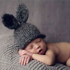 Newborn Baby Infant Crochet Knit Rabbit Ears Hat Cap Baby Photo Photography Prop