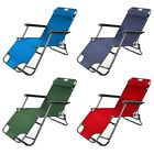 Folding Reclining Garden Chair Outdoor Sun Lounger Deck Camping Beach Lounge Uk