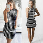 CHIC Womens Boho Summer Hooded Bodycon Sleeveless Sexy Party Cocktail Mini Dress