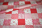 CUSTOM MADE - VW Camper Van Curtains - Patchwork - Raspberry