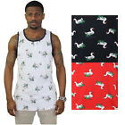 Society Gander Men's Geese Print Tank Top Shirt Bodybuilding Greek Preppy