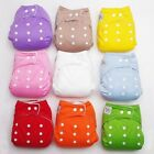 Soft Baby Kids Adjustable Reusable Nappies Cartoon Diaper Washable Cloth Diapers