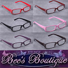 Diamonte Reading Glasses Brown Plastic Frame +2 +2.5 +3 Ladies Fashion Specs