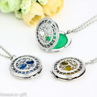 Gift Dull Silver Tone Hollow Luminous Tree Of Life Round Pendant Necklace