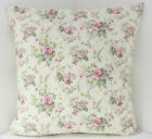SCATTER CUSHION COVERS VINTAGE CHIC FLORAL DUSKY PINK GREEN CUSHION COVERS