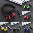 3.5mm Jack Stereo In-Ear Braided Wire Headsets Earphone Headphone for MP3 Phone