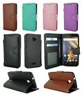 Leather Wallet Flip Case Stand w/ Card Holder & Strap For Coolpad Catalyst 3622A