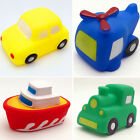 Baby Toddler Vehicles Bathtime Floating Squeaky Sqeeze Bath Toys Water Play Gift