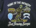 YOUTH T-SHIRT FORT BENNING HOME OF THE INFANTRY SIZE 8 - SMALL BLUE OR BLACK