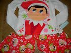 New Girls Elf on the Shelf  2pc Set pajamas Christmas Sleepwear M L