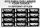 NYX FABULOUS LASHES - Your Choice *NEW **11 DIFFERNT STYLES