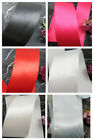 3 METRES 50mm SINGLE SIDED SATIN RIBBON *9 COLOURS* CRAFTS CARDMAKING WEDDING