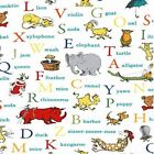 DR SEUSS ALPHABET ANIMALS ROBERT KAUFMAN QUILT COTTON FABRIC *Free Oz Post