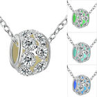 3 Colors New Fashion Women Girl Necklace Noctilucent Pendant Jewelly Round Hot