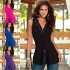 Sexy Women Lady Summer Blouse Lace Sleeveless Vest Bodycon Casual Tops T-Shirt