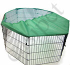 Metal Play Run Cage Pet Dog Puppy Pen Rabbit Guinea Pig Cat Black New Easipet