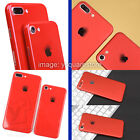 Apple iPhone 7,7Plus 6,6s Plus Matte/Jet Red Effect Body Wrap Decal Skin Sticker
