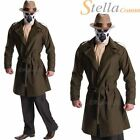 Adult Mens Deluxe Rorsach Costume Halloween Watchmen Overcoat Fancy Dress Outfit