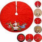 Christmas Tree Skirt Decoration Red Gold White Silver Cream - Choose Size-Design