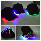Cool LED Lighted Adjustable Glow Club Party Baseball Hip-Hop Fabric Hat Cap