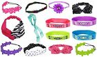 NWT Justice Girls Headband Hair Wrap Accessories Bows Flower Jelly Beaded NEW