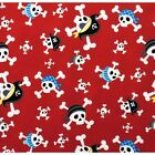 BLAGGARDS BONES PIRATE SKULLS KIDS  ALEXANDER HENRY COTTON FABRIC *Free Oz Post