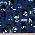 A MISTER STACHE MOUSTACHES ALEXANDER HENRY COTTON FABRIC *Free Oz Post