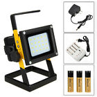 Rechargeable 30W Outdoor Portable 20 LED Flood Spot Work Light Caravan Camp Lamp