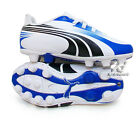 Football Boots Puma EXCITEMO R HG Jr YOUTH soccer cleats Medium WHITE Synthetic