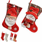 2 Pack Christmas Stocking Fireplace Decoration Santa Snowman, Choose Design