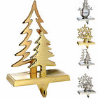 Christmas Stocking Holder Santa Snowman Snowflake Tree Gold Silver Choose Design