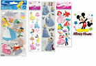 Disney 3 Dimensional Sticker Alice, Ariel, Cinderella, Belle...