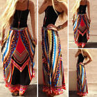 Hot Ethnic Women Tribal Print Summer Beach Long Bohemian Skirt Maxi Party Dress