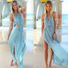 Womens Sleeveless Boho Long Maxi Party Beach Bikini Cover Up Chiffon Dress